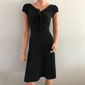 Diane Von Furstenberg DVF Ruffle V-Neck Dress 0